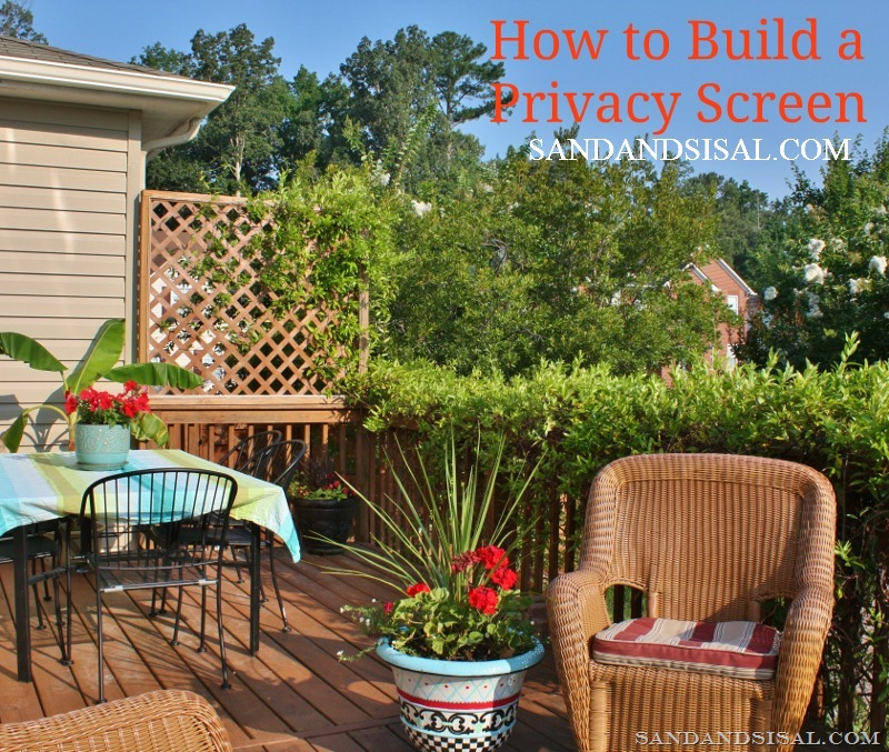 How to build a privacy screen