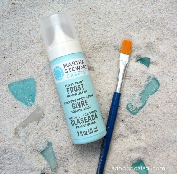 Martha Stewart Glass Paint - DIY Sea Glass