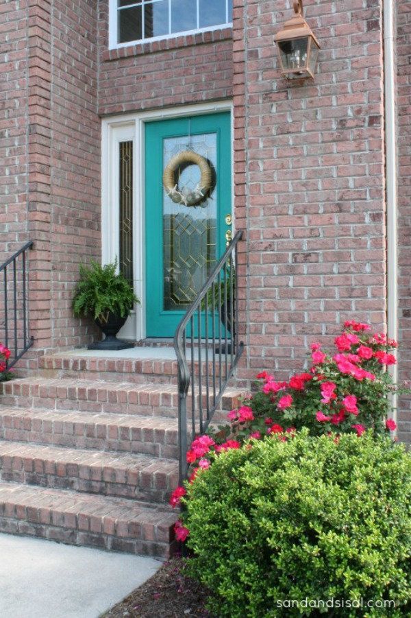 painting a front doorColor Me Turquoise  Sand and Sisal