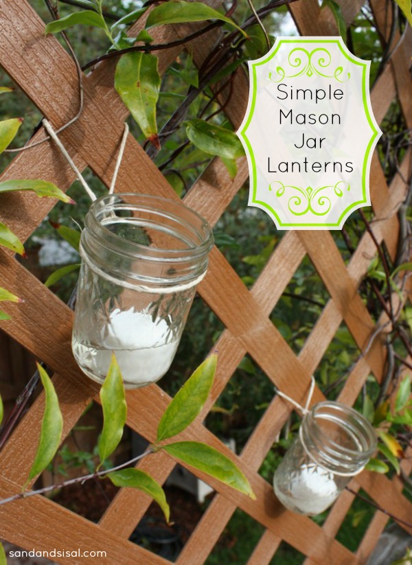 Simple Mason Jar Lanterns