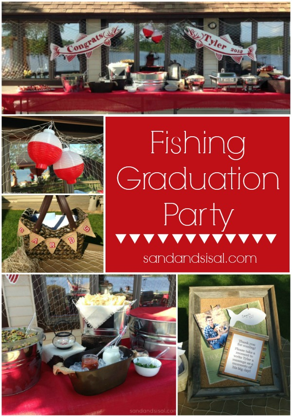 Fishing Graduation Party Sand And Sisal