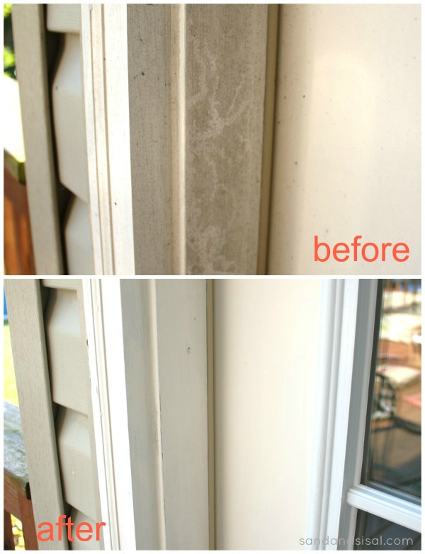 Door molding before and after