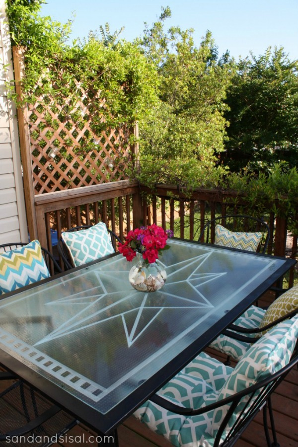 Faux Etched Gl Table