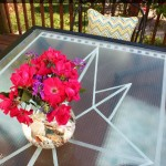 Faux Etched Glass + Giveaway with ScotchBlue™ Painters Tape and Home Depot