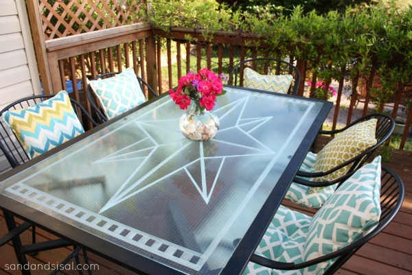 Faux Etched Glass Table