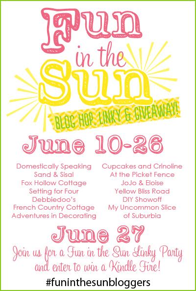 Fun in the sun summer blog hop