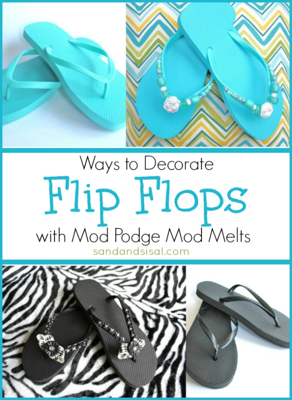 Ways To Decorate Flip Flops Sand And Sisal