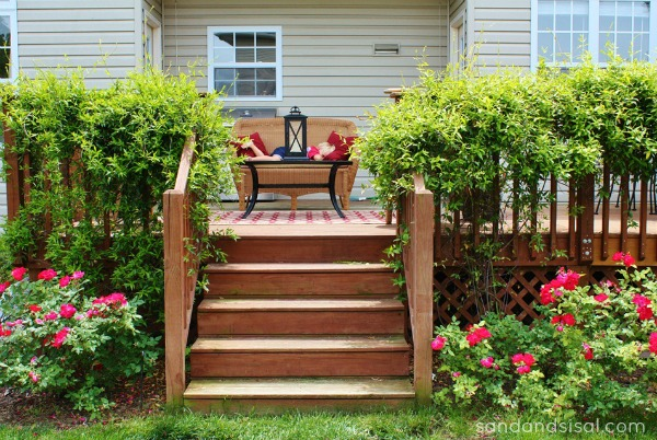 deck with vines