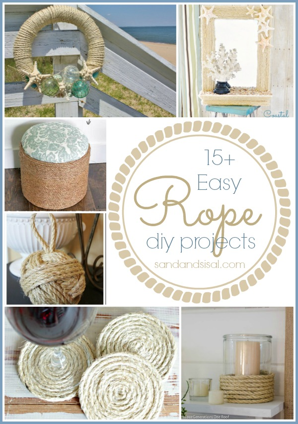 15+ Easy Rope Crafts - Sand and Sisal