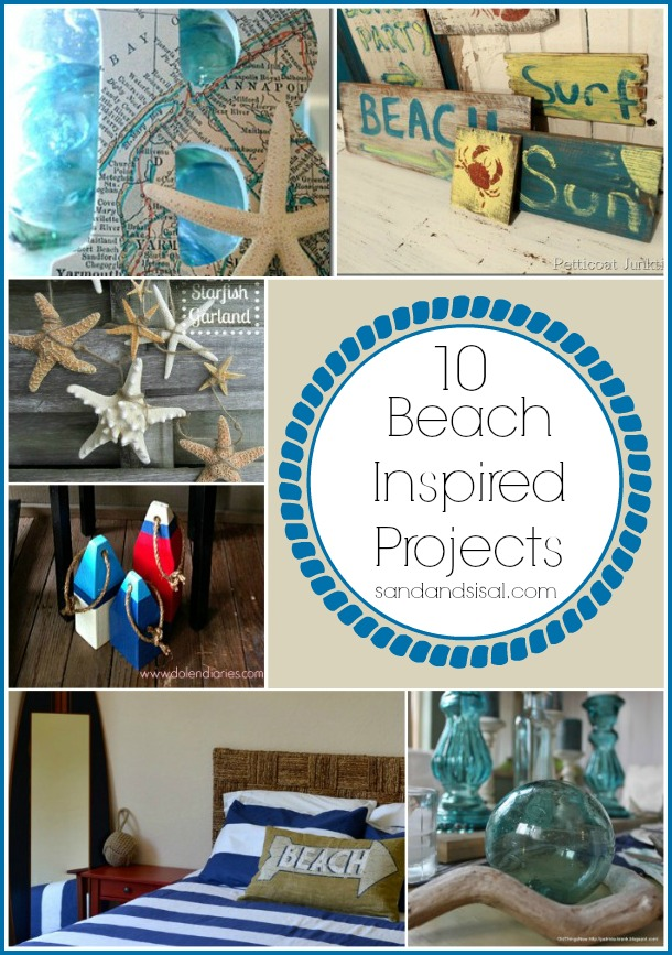 10 beach inspired projects sand and sisal