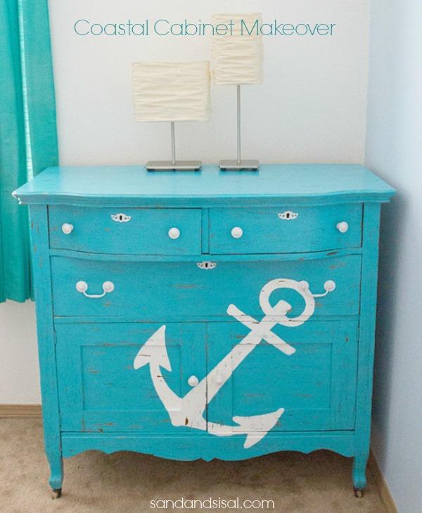 Coastal Cabinet Makeover