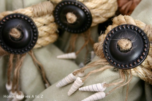 Shell and Jute Napkin Rings