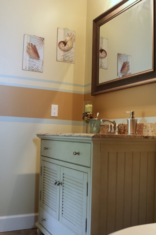 Coastal Bathroom Makeover - awesome before & after pics