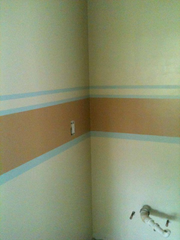bathroom painting stripes