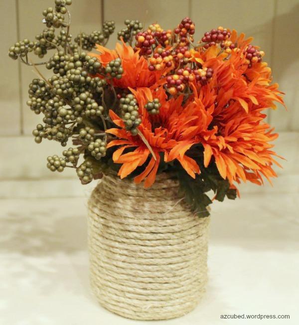 fall twine vase