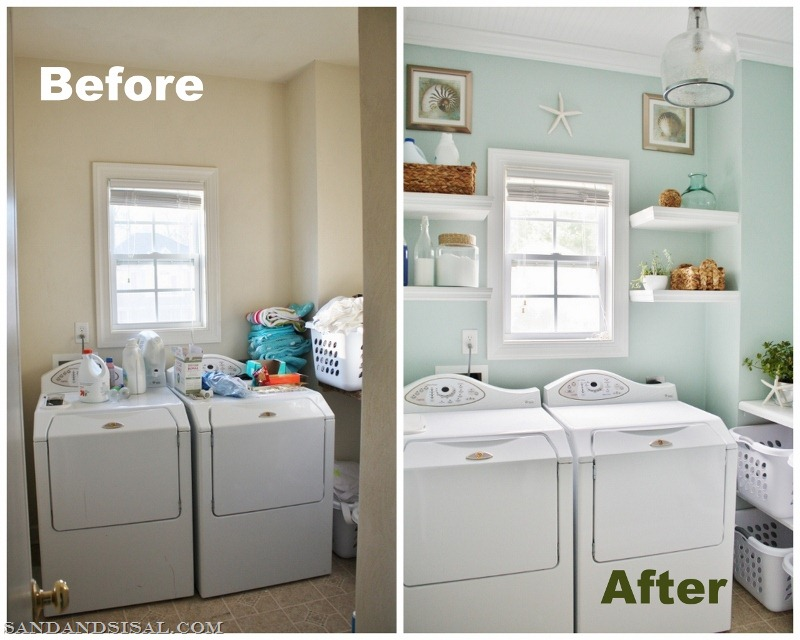 Coastal Wall Decor Part - 45: Laundry-room-before-and-after