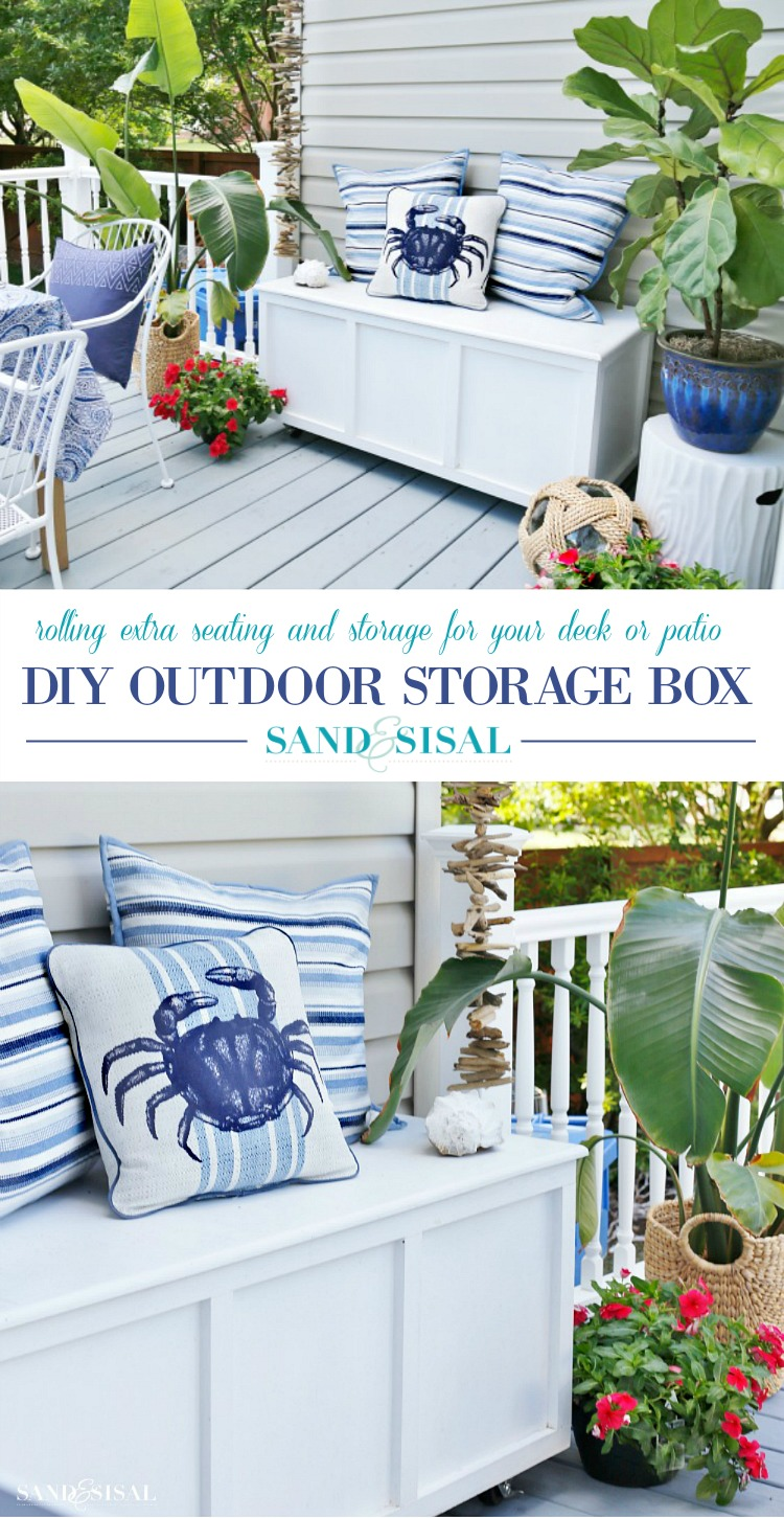 DIY Outdoor Storage Box / Bench - Sand and Sisal