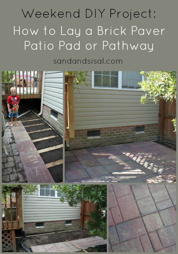 How to lay a brick paver patio pad or pathway