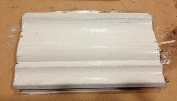 Step 2- Shutter Gray and Grainsack Milk Paint