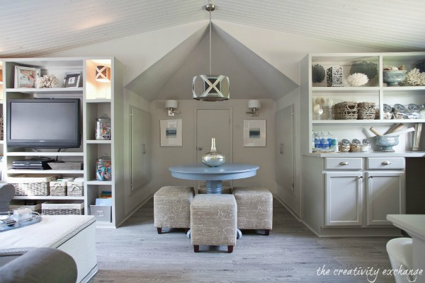 Coastal Craft Room Makeover