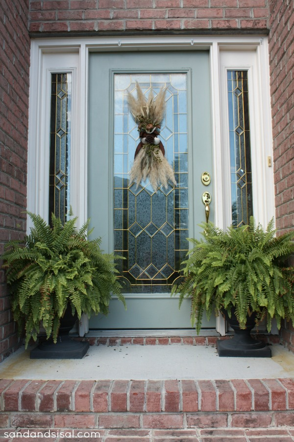 Fall Door Swag - Sand and Sisal