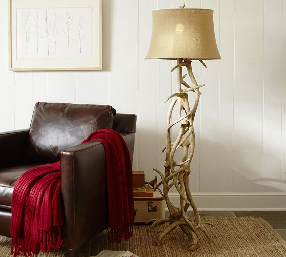 Faux Antler Floor Lamp