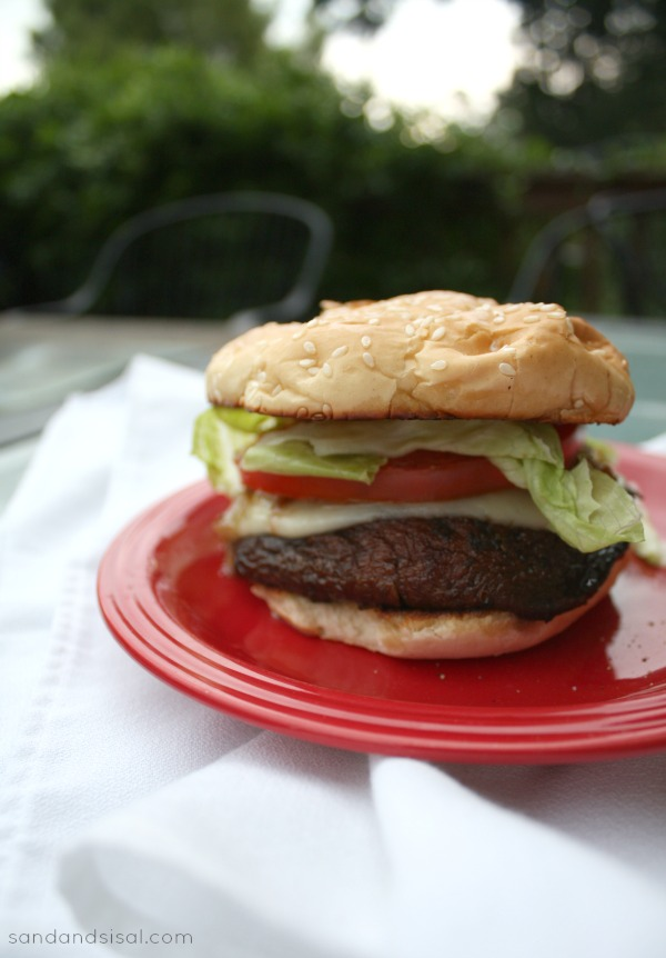 Grilled Portabello Mushroom Burgers with Provolone