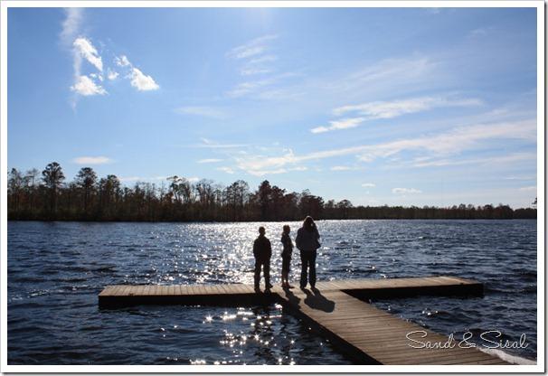 Kids on dock