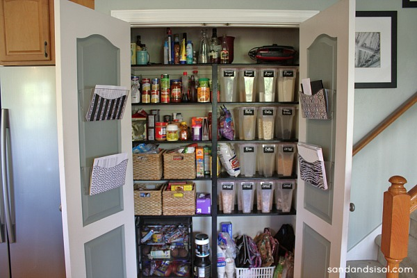 Family Command Center Inside Pantry Doors