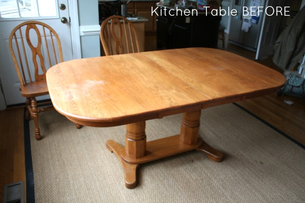 How to refinish a table sand and sisal - Refinishing a kitchen table ...