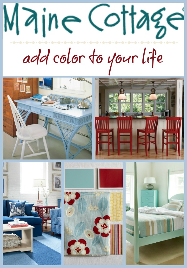 Maine Cottage - add color to your life