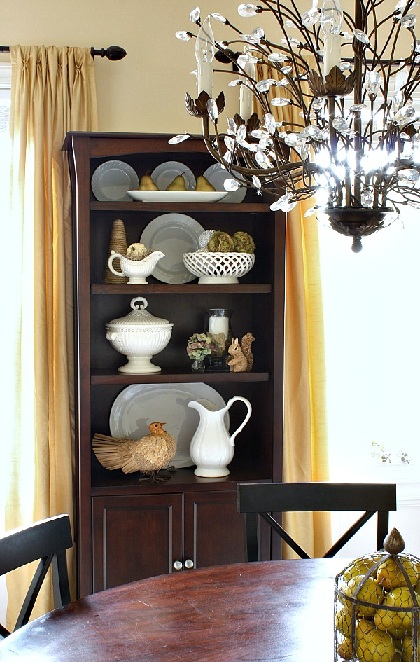 Re purpose and reuse sand and sisal for Dining room bookcase ideas