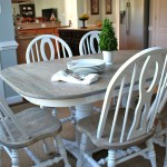 Two Toned Table - How to refinish a table