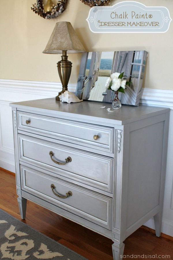 Chalk Paint 174 Dresser Makeover Part 2 Using Wax Sand