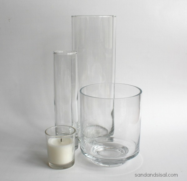 Clear glass vases
