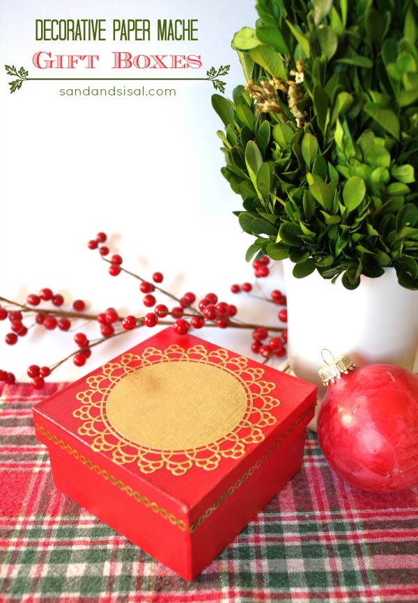 Decorative Decoupage Gift Boxes