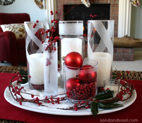 Easy Etched Glass Holiday Vases