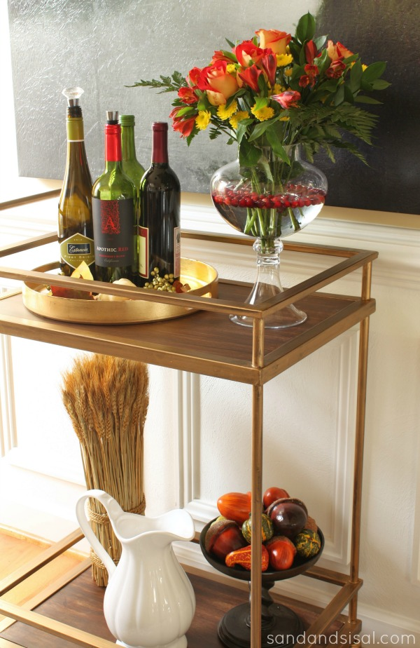 Gold Bar Cart #PFdecorates