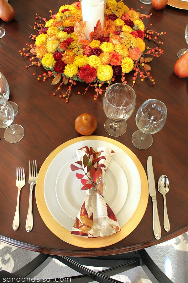 Thanksgiving Placesetting #PFdecorates