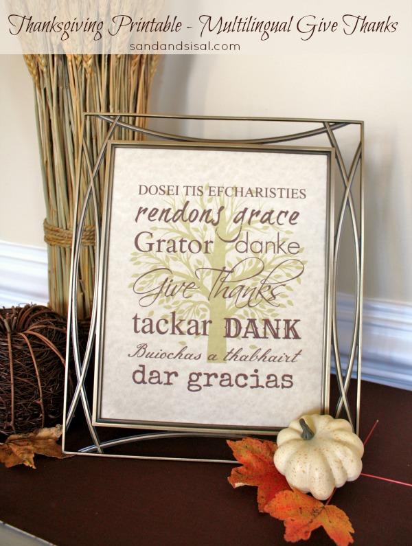 Thanksgiving Printable - Give Thanks