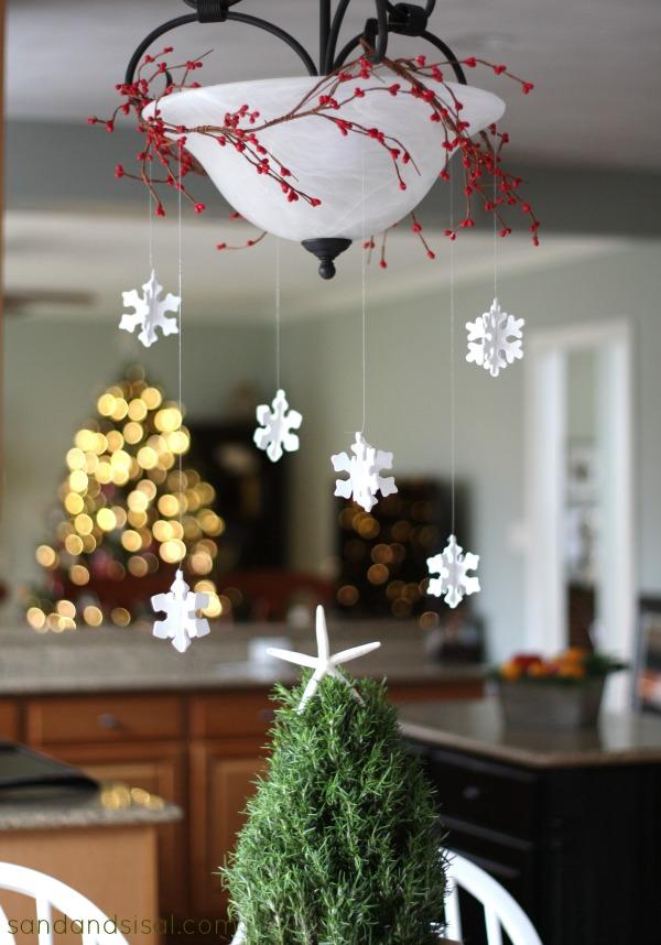 Christmas Snowflake Chandy