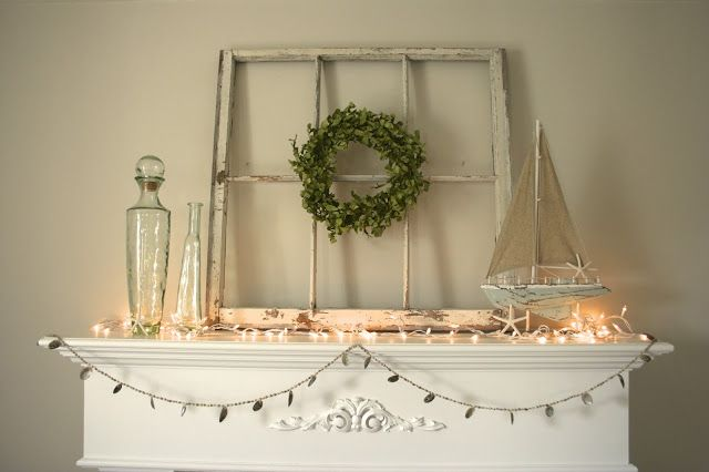 Coastal Christmas Mantel