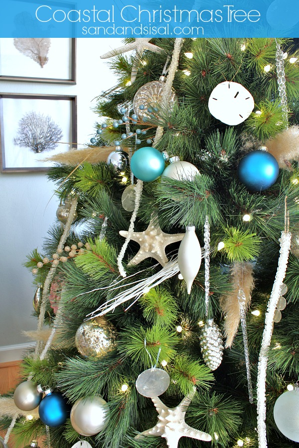 Coastal Christmas Tree Sand And Sisal