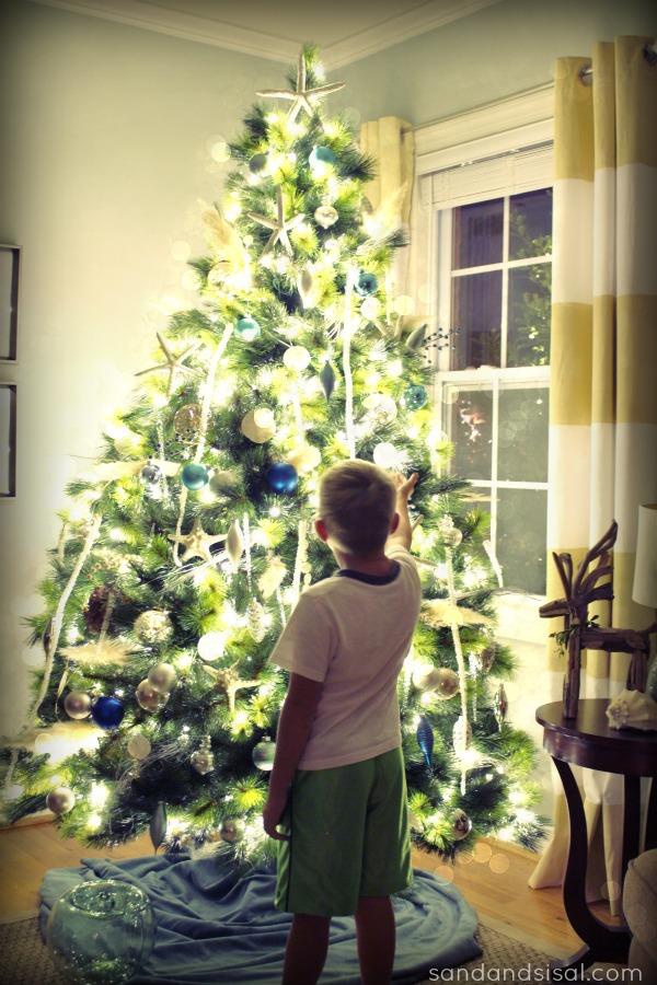 Coastal Christmas Tree at night
