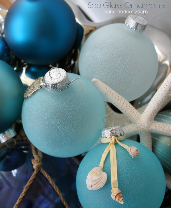 Holiday Decor Gift Ideas Pottery Barn Edition All My: Sea Glass Ornaments
