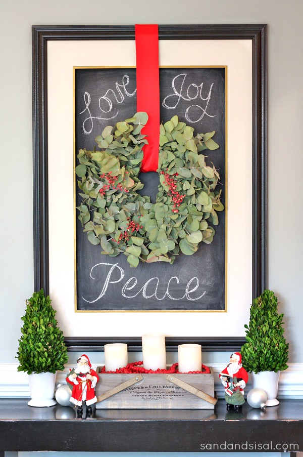 Holiday Eucalyptus Wreath
