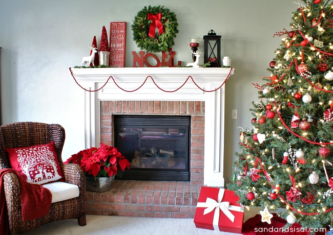 Red and white Christmas Decor