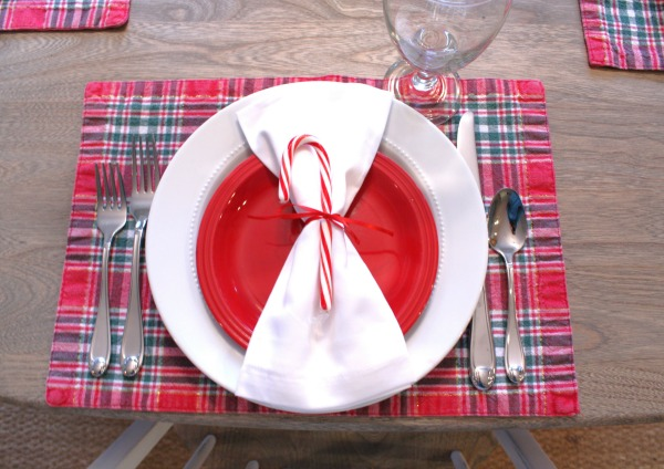 Simple Christmas Placesetting