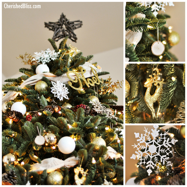 Balsam Hills 12 Bloggers of Christmas Sand and Sisal : White and Gold Rustic Christmas Tree from www.sandandsisal.com size 640 x 640 jpeg 513kB