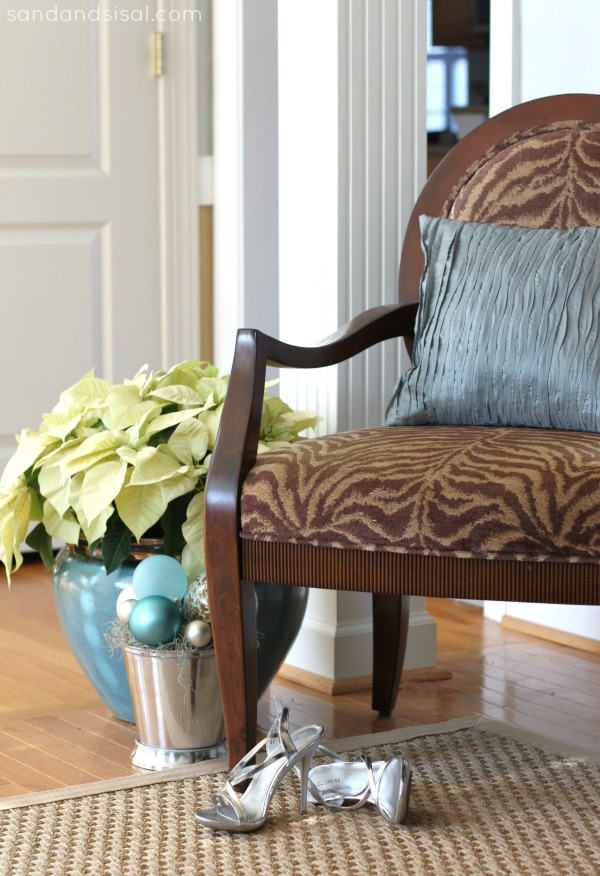 Zebra chair - Holiday decorating
